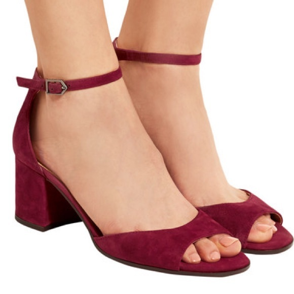 bac617d84932 Sam Edelman Red Suede Susie Mary Jane Sandals. M 5aa2b8662ab8c59c1665be1b